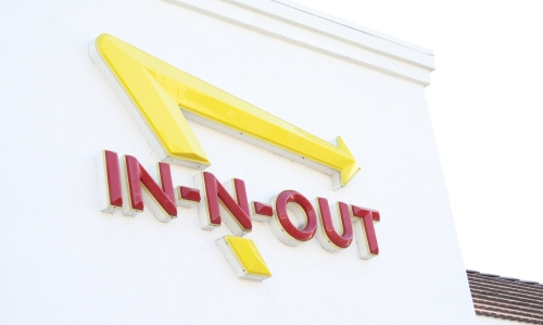 My first visit to In-N-Out!
